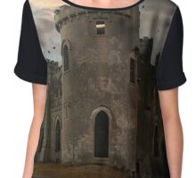 Clifden Castle At The Sunset Chiffon Top