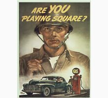 Vintage poster - Are you playing square? Unisex T-Shirt