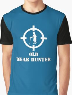 Old Dear Hunter Funny Shoot Graphic T-Shirt