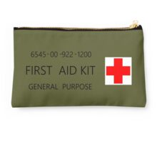 First Aid Kit Decal - US Army stylings Studio Pouch