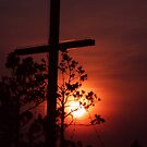 crossed sunset by Cheryl Dunning