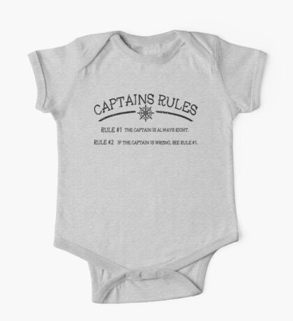 Captains Rules One Piece - Short Sleeve