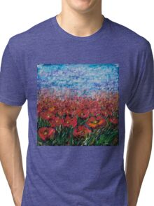 Red Poppy Field - by Lena Owens Tri-blend T-Shirt