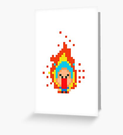 Angry Boy Greeting Card