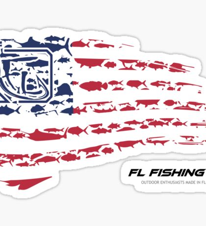 American Flag RED  Sticker