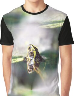 Yellow-Headed Temple Turtle Graphic T-Shirt