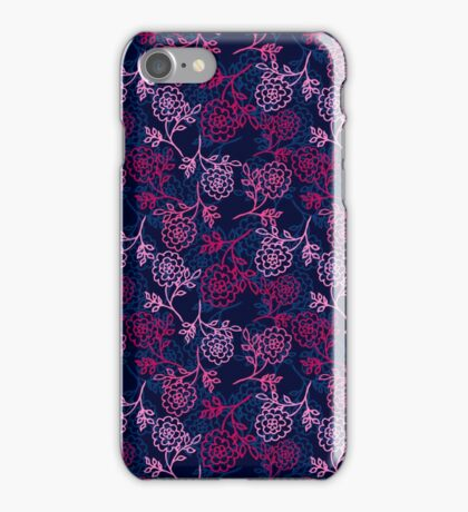 seamless pattern with abstract flowers. vector iPhone Case/Skin