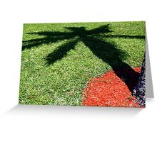 Palm Tree Shadow on Grass Greeting Card