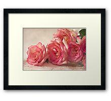 Rosy Elegance - Digital Watercolor  Framed Print