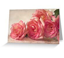 Rosy Elegance - Digital Watercolor  Greeting Card