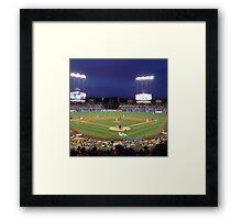 Night Game - Baseball Framed Print