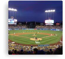 Night Game - Baseball Canvas Print