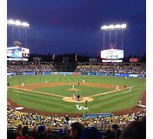 Night Game - Baseball Photographic Print