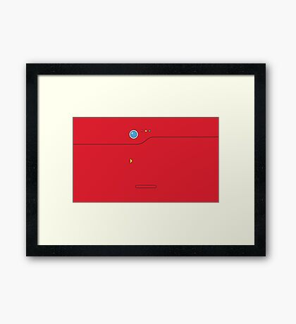 Pokedex - Red Framed Print