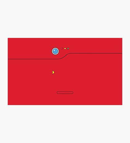 Pokedex - Red Photographic Print
