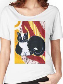 Content Tuxedo Cat Women's Relaxed Fit T-Shirt