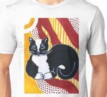 Content Tuxedo Cat Unisex T-Shirt