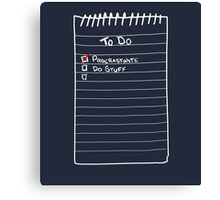 Todo List Canvas Print