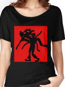 Black abstract man Women's Relaxed Fit T-Shirt
