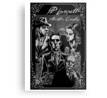 HP Lovecraft vs Aleister Crowley Metal Print