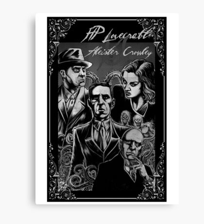 HP Lovecraft vs Aleister Crowley Canvas Print