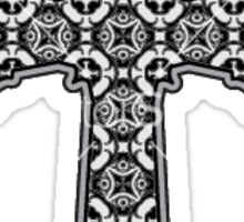Paisley Cross Sticker