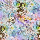 Spirit dance as a seamless tile by Regina Valluzzi