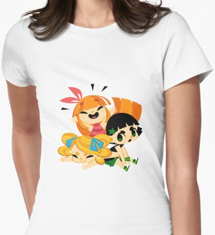 happy Womens Fitted T-Shirt