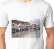 Boats in the Lower Harbour, Whitby Unisex T-Shirt