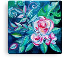 Tropical Camellia Extravaganza - oil on canvas Canvas Print
