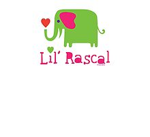 Elephant Lil Rascal green by Andi Bird