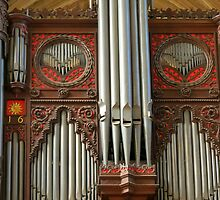 Exeter Cathedral Organ Pipes by MidnightMelody
