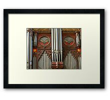 Exeter Cathedral Organ Pipes Framed Print