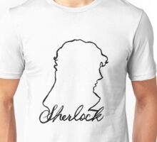 sherlock name and silhouette  Unisex T-Shirt