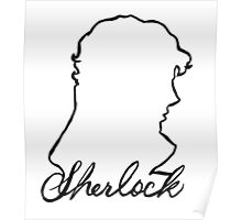 sherlock name and silhouette  Poster