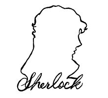 sherlock name and silhouette  Photographic Print