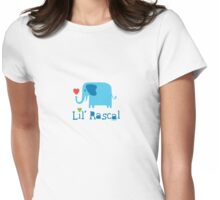 Elephant Lil Rascal blue Womens Fitted T-Shirt