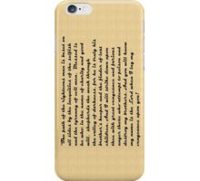 Righteous man iPhone Case/Skin