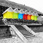 WHITBY BEACH HUTS by FieryFinn77