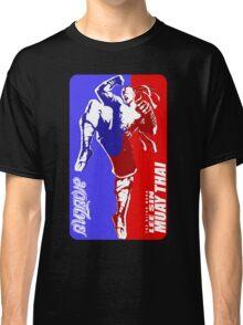 lee sin muay thai fighter thailand martial art sport logo badge sticker shirt Classic T-Shirt