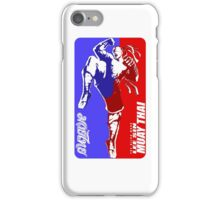lee sin muay thai fighter thailand martial art sport logo badge sticker shirt iPhone Case/Skin