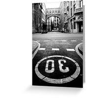 Barcelona Street Greeting Card