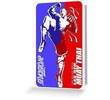 lee sin muay thai fighter thailand martial art sport logo badge sticker shirt Greeting Card
