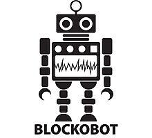 BLOCKOBOT (black) Photographic Print