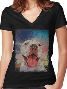 Pitbull Women's Fitted V-Neck T-Shirt