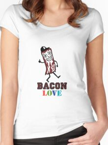 Bacon Love Women's Fitted Scoop T-Shirt