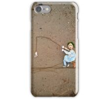 Wavy Davy caught a fish! iPhone Case/Skin