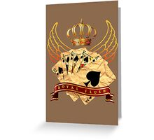 Royal Flush Greeting Card