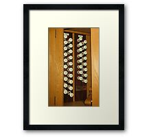 Organ Stops - Exeter Cathedral Framed Print