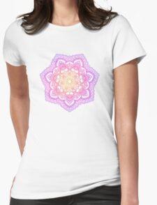 Sunset Mandala Womens Fitted T-Shirt